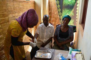 MASYAP's HTC Officer Conducting Couples HIV testing, Mulanje, Malawi